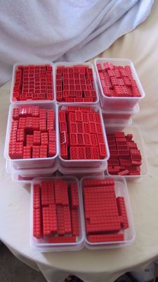 Assorted - 6.5 kg Lego - Red bricks