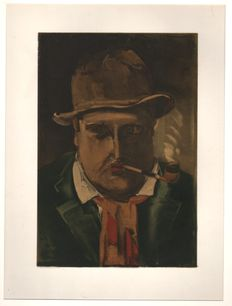 Maurice de Vlaminck (1876-1958) - self-portrait - Limited edition by Mourlot, Sauret Paris 1958