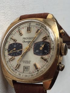 Provhor-Chonograph-Date-Men's-1970-Very Rear