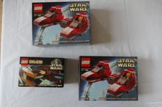 Star Wars - 7119 (2x) + 7111 - Twin-Pod Cloud Car (2x) + Droid Fighter