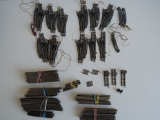 Ibertren/Trix N – 74-piece batch rails, with 11 electric switches