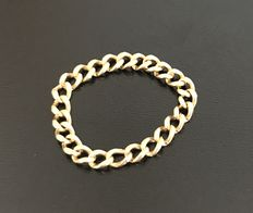 Beautiful flexible ring with 'forcat' link chain in 18 kt gold - no reserve price