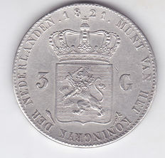 The Netherlands – 3 guilder 1821 Willem I – Silver