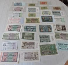 Germany - Collection of 29 banknotes 1919/1924
