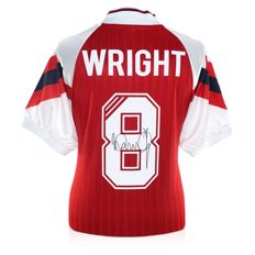 Ian Wright Signed Arsenal FC 1993/1994 shirt in cover + COA inc Photoproof.