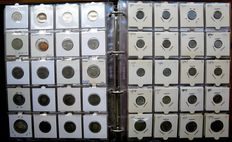 Scandinavia - collection of coins 1897/1999 (376 different coins), including 31 x silver in album