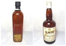 2 bottles - 1960s Mac Donald's old blended whisky & 1970s Haig