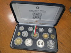 Republic of Italy – 1992 Proof divisional series 'Piero della Francesca' (including silver)