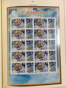 Large collection France MNH 1965/2000 in album