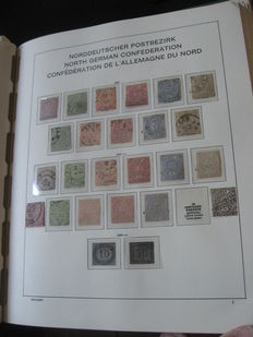 North German Confederation and French Alsace-Lorraine 1868-1869 - Nearly complete collection