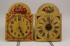 Two Black Forest clocks - 19th century - Germany