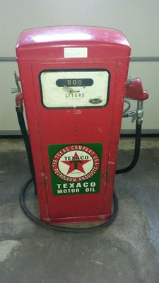 Wayne - original petrol pump / gasoline pump - Texaco sign - dimensions 140 x 60 x 50 cm