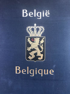 Belgium 1849/1980 - Broad collection containing blocks, railway stamps, official stamps, etc in Davo album