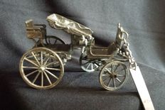 Car model Spider 1850 made of solid silver, Italy, 20th century