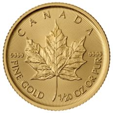Canada - 1 CAD - Maple Leaf 999-9.9 Gold / Gold Coin
