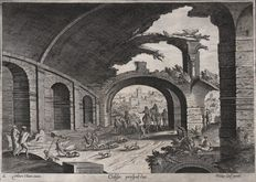 Hendrick Van Cleve (1525-1589) - Colisei prospectus / View of the ruin of the Colosseum - Workshop of Phillips Galle - Ca. 1580