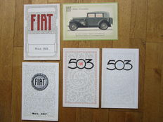 FIAT Lot of 5 catalogues