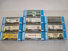 Märklin H0 - 10x Refrigerated beer vans, various limited edition liveries (Lot 13)