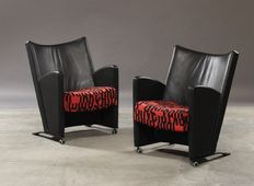 Christina and LArs Andersson for EFG, set of two chairs, model Carat