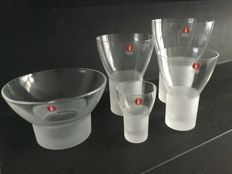 Iittala (Finland) - 'Marius' extensive tableware with vases, drinking glasses, bowls