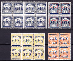 - Yugoslavia Kroatia 1918, unpublished stamps with overprint