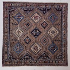NEW*Yalameh -Handknotted/Persian/ORIENTAL/ - Yalameh-Carpet  188 x 199 IRAN Around 1980