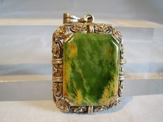 Large pendant with jade / jadeite panel