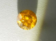 1.14 ct Orange yellow diamond – Si2
