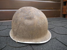 Barn Find, U.S.A. M1 helmet, with liner.