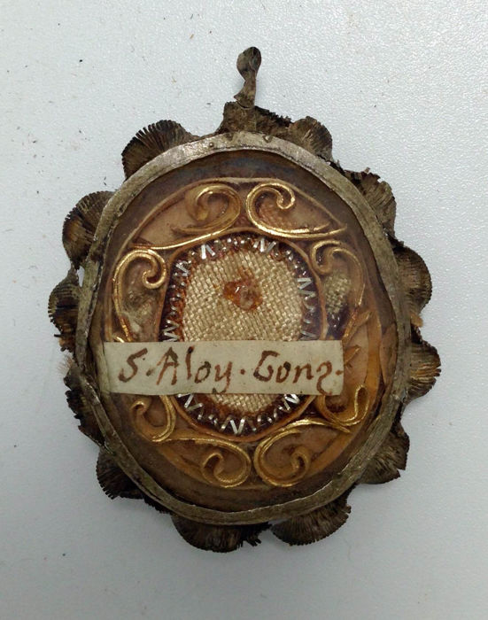 Antique - RELIQUARY - S. Aloysius Gonzaga - Holy Relic - 18th century