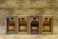 Glenrothes Peated - Bourbon - Vintage 2001 - Alba Reserve - 4 Bottles in original showboxes