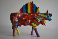 Donna Lane Vadala for Cow Parade - type Camp for Allasaurus - Large version, Retired