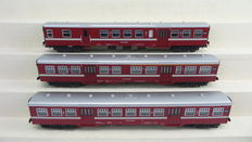 Lima H0 - 149778 - Set with 3 red M2 carriages for the IJssel line by the NS