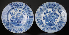 A set porcelain blue white plates - China - 17th century (Kangzi period)