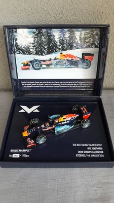 Minichamps - Scale 1/43 - Red Bull TAG RB7 Max Verstappen - Snow demonstration run 2016