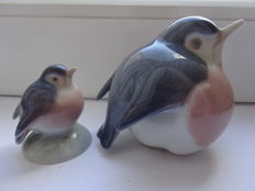 Royal Copenhagen - Two bird porcelain Figurine