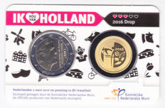 "The Netherlands – 2 Euro 2016 ""Liquorice"" with gold medal, in coin card"
