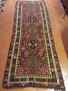 Genuine East-Anatolian Kars Kilim carpet, well-structured and very well-made, in good condition 140 x 360 cm - Circa 1950s/60s