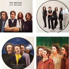 "The Beatles Lot Of Two Picture Disc LP's  10"" ""Let It Unplugged""  &  12"" ""Alternate Rarities"""