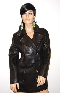 Marc Cain – Beautiful 100% leather coat, fully lined