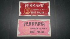 2 different Rare advertising sign for Ferraria 1910