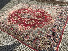 Antique XXL Persian Kerman Rug-380x270cm -hand knotted