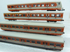 Minitrix N - 3142/3143/3144 - set of 4x S-bahn carriages of the DB