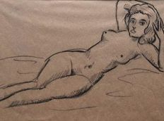 Unknown artist - Nude - Sketches and drawings