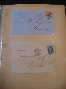 France - Large collection of classic letters and post marks.