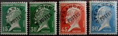 France 1992/1947 - Pre-cancelled series of Yvert no. 65 to 68 (Pasteur) and of no. 70 to 86 (Paix and Mercure).