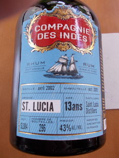 Rhum Saint Lucia 13 Years Old - Single Cask Rhum - Distilled 2002