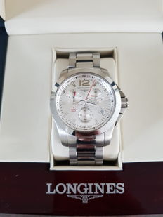 Longines Conquest – 2016 – men's watch - model number: L3.700.4.76.6 – Chronograph mechanism.