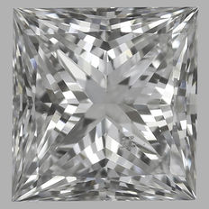 0.50 ct Princess Diamonds E SI1 GIA - Serial# 1706