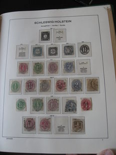Schleswig - Holstein et Wurtemberg 1864/1901 - Collection de timbres
